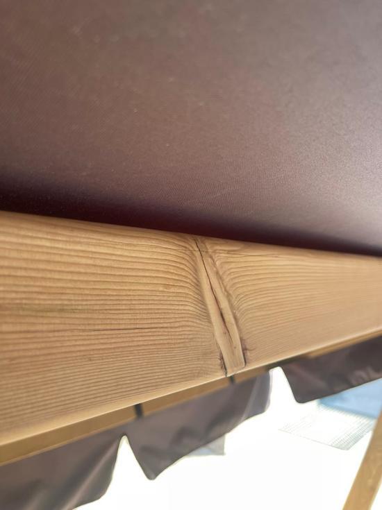 Фото №7 Садовые четырехместные деревянные качели ЛАРИКС 4.0 Лиственница
