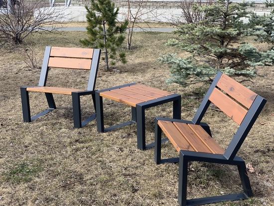 Фото №4 Комплект уличной мебели «Street Cafe Stone» 740