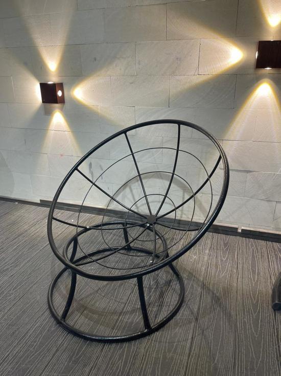Фото №4 Кресло «Папасан» Стандарт Бордовая подушка