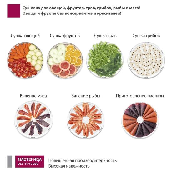 Фото №5 Сушилка для овощей Мастерица ЭСБ-11/18-300