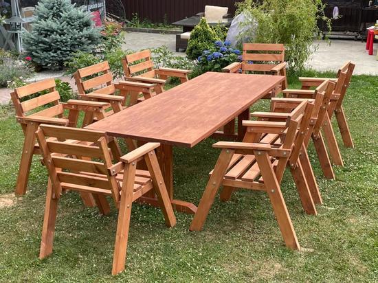 Фото №2 Набор садовый АИДА (стол + 8 стульев)