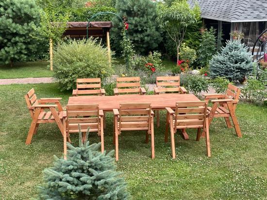 Фото №3 Набор садовый АИДА (стол + 8 стульев)