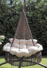 """Фото №2 Подвесное кресло - гамак """"ARENAL"""" с подушками (светло коричневый)"""