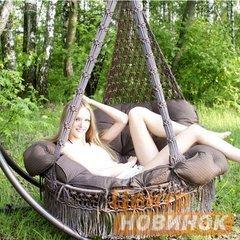 """фото Подвесное кресло - гамак """"ARENAL"""" с подушками (светло коричневый)"""