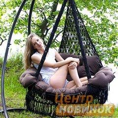 """фото Подвесное кресло - гамак """"ARENAL"""" с подушками (черный)"""