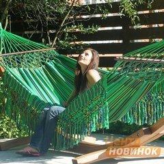 """фото Гамак """"KOLOMBUS"""" зеленый (двухместный)"""