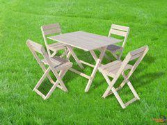 фото Набор складной ПИКНИК (стол + 4 стульчика, дерево)