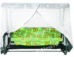 Фото №2 Москитная сетка на садовые качели 240 см (Торнадо, Родео, Орбита, Варадеро, Мастак и др.)