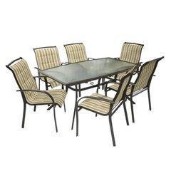 фото Столовый Комплект BORDO (бежево-коричневый)