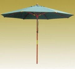 Фото №2 Зонт деревянный зеленый TJWU-003
