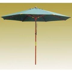 фото Зонт деревянный зеленый TJWU-003