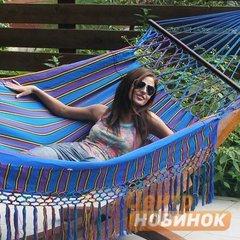 """фото Гамак """"KOLOMBUS"""" blue (двухместный)"""