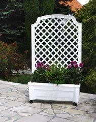 фото Ящик для растений с шпалерой на колёсах КАЛИПСО 37301