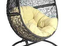 Фото №3 Кресло подвесное + каркас Lunar Black