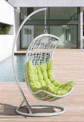 Фото №5 Подвесное кресло ВИШИ из искусственного ротанга