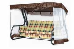 Тент крыша + москитная сетка для садовых качелей (с прямой крышей)