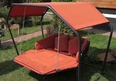 фото Подвесной гамак качели ДАЙМОНД (цвет оранжевый)