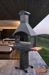 фото Барбекю с крышей и столешницами МБ-5