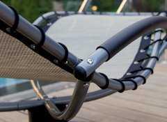 Фото №6 Кресло-шезлонг качалка ФЛЭТ на пружинной круглой подставке