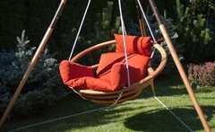 Фото №5 Подвесное деревянное кресло качели с подушками - комплект МАЙЯ SET