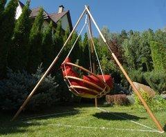 Фото №6 Подвесное деревянное кресло качели с подушками - комплект МАЙЯ SET
