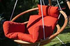 Фото №7 Подвесное деревянное кресло качели с подушками - комплект МАЙЯ SET