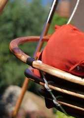 Фото №8 Подвесное деревянное кресло качели с подушками - комплект МАЙЯ SET