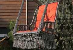 Фото №2 Подвесное кресло качели ИНКА в комплекте с подушкой