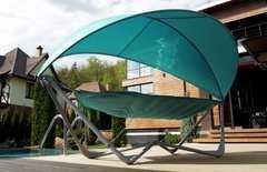Фото №9 Подвесное кресло гамак ИБИЦА (цвет бирюзовый)