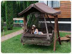 Фото №7 Подвесное кресло качели SEARA в комплекте с подушками (без каркаса)