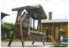 Фото №11 Подвесное кресло качели SEARA в комплекте с подушками (без каркаса)