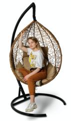 фото Подвесное кресло-кокон SEVILLA бежевое + каркас