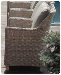 Фото №6 Кресло из искусственного ротанга ТОСКАНА в комплекте с подушками