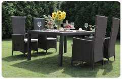 Фото №2 Комплект садовой мебели из ротанга Lavras 165 (стол + 4-6 кресел)