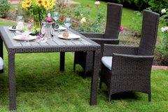 Фото №3 Комплект садовой мебели из ротанга Lavras 165 (стол + 4-6 кресел)