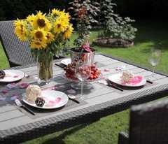 Фото №4 Комплект садовой мебели из ротанга Lavras 165 (стол + 4-6 кресел)