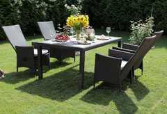 Фото №5 Комплект садовой мебели из ротанга Lavras 165 (стол + 4-6 кресел)