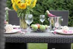 Фото №7 Комплект садовой мебели из ротанга Lavras 165 (стол + 4-6 кресел)