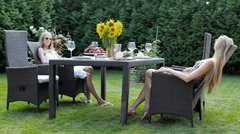 Фото №6 Комплект садовой мебели из ротанга Lavras 205 (стол + 6-8 кресел)