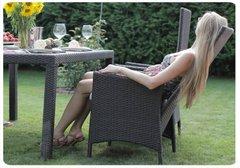 Фото №4 Раскладное кресло из ротанга LAVRAS с регулируемой спинкой
