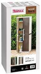 Фото №3 Пластиковый шкаф 2-х дверный с 4 полками