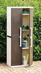 фото Пластиковый шкаф 2-х дверный с 4 полками