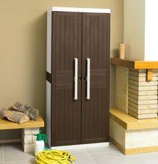 фото Пластиковые шкаф 2-х дверный с 3 полками
