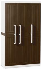 фото Пластиковые шкаф 3-х дверный с 4 полками