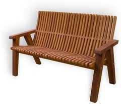 фото Деревянная скамейка ЛАМЕЛЬ