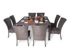 фото Обеденный комплект cо стульями (квадратный стол) КАПРИ