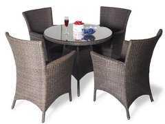 фото Обеденный комплект с креслами на 4 человека (круглый стол)