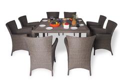 фото Обеденный комплект с креслами (квадратный стол) КАПРИ