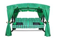 фото Садовые качели четырехместные ЭДЕМ ЛЮКС 76 (зеленый каркас)
