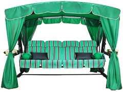 фото Садовые качели четырехместные ЭДЕМ 76 (зеленый)